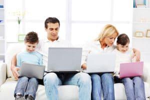 Family computer time balance